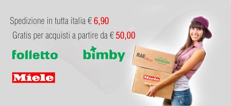 Spedizione gratis da 50 euro